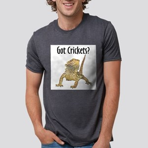 Bearded Dragon Got Crickets Ash Grey T-Shirt